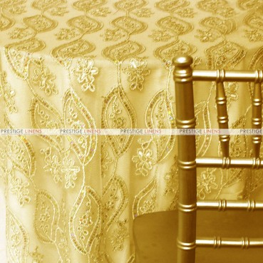 Coco Mango Table Linen  --  Gold