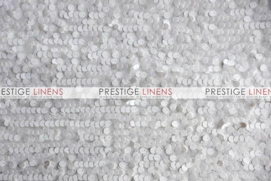 Mesh Sequins Embroidery Draping - White