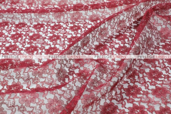 Rachelle Lace - Fabric by the yard - 628 Burgundy