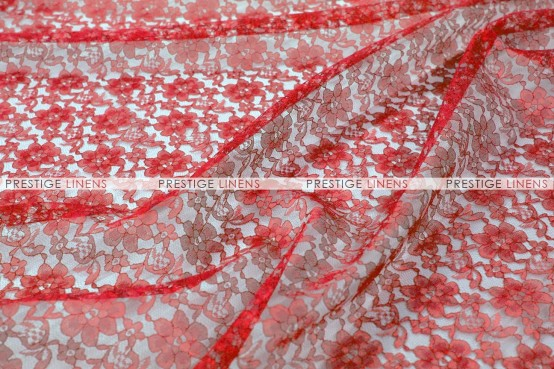 Rachelle Lace - Fabric by the yard - 626 Red