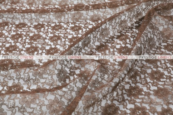 Rachelle Lace - Fabric by the yard - 333 Brown