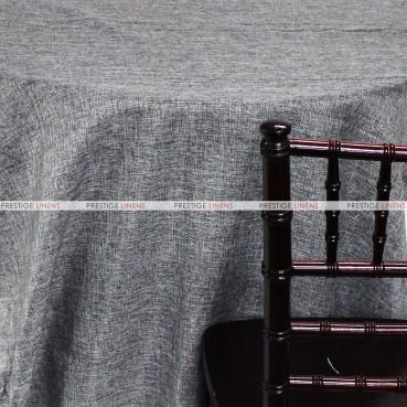 Vintage Linen Table Linen - Charcoal