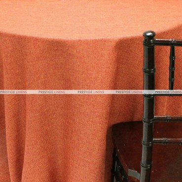 Vintage Linen Table Linen - Dk Orange