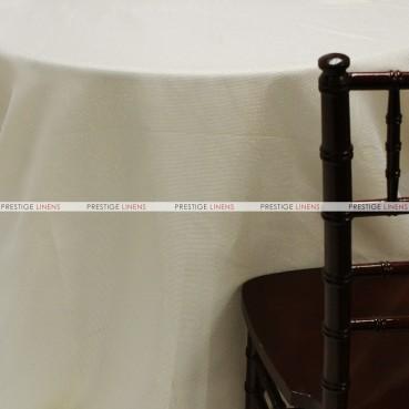 Vintage Linen Metallic Table Linen - Ivory