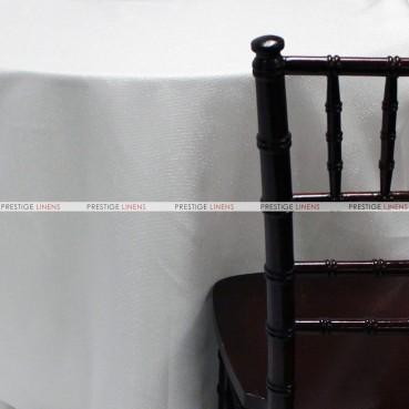 Vintage Linen Metallic Table Linen - White