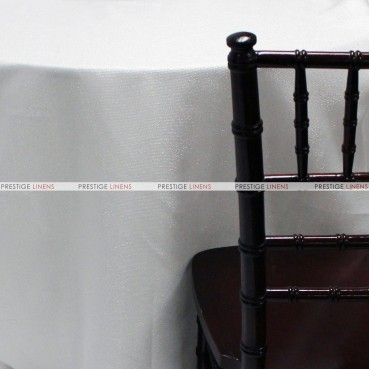 Vintage Linen Table Linen - Metallic White