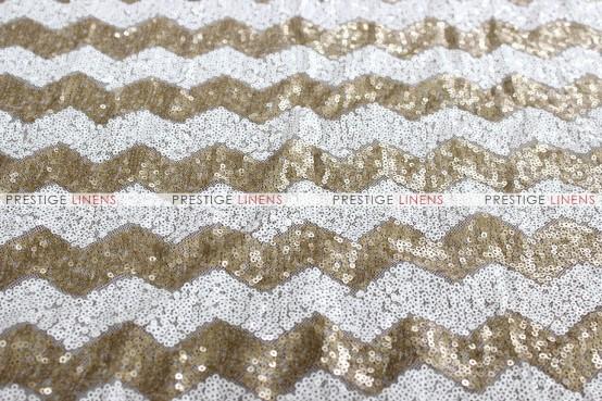 Chevron Glitz Pillow Cover - Gold