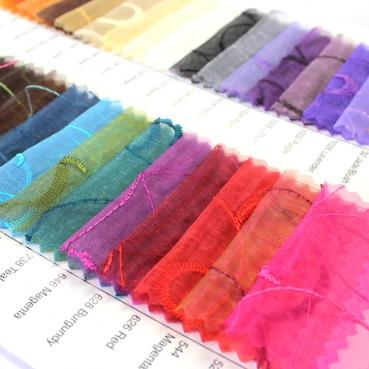 Organza Swirl Color Card