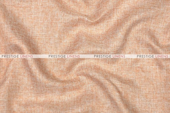 Vintage Linen - Fabric by the yard - Peach