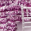 Leaf Petal Taffeta Table Runner - Multi Purple