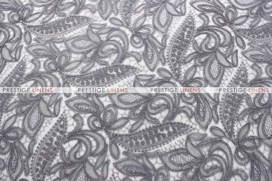French Lace Table Runner   Silver