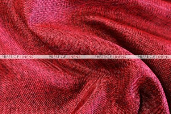 Vintage Linen Aisle Runner - Burgundy