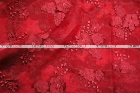 Applique Organza - Fabric by the yard - Cherry