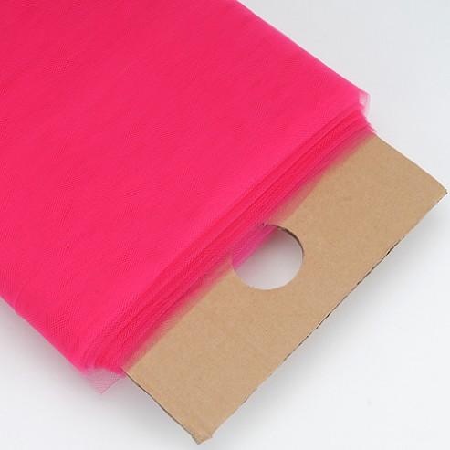 Bridal Tulle Illusion - Fabric by the yard - Fuchsia