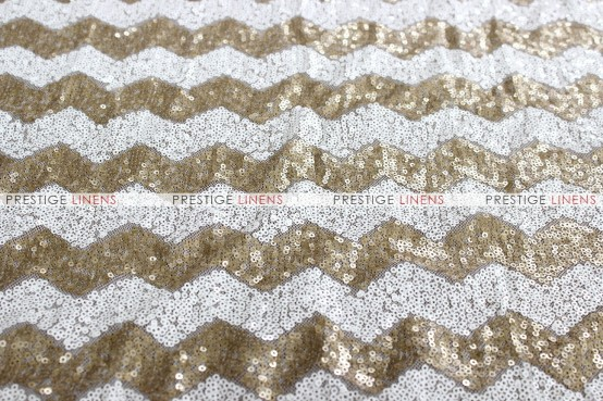Chevron Glitz - Fabric by the yard - Gold