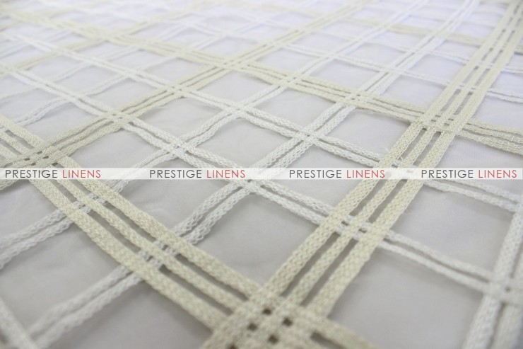 Plaid Sheer - Fabric by the yard - Ivory/White