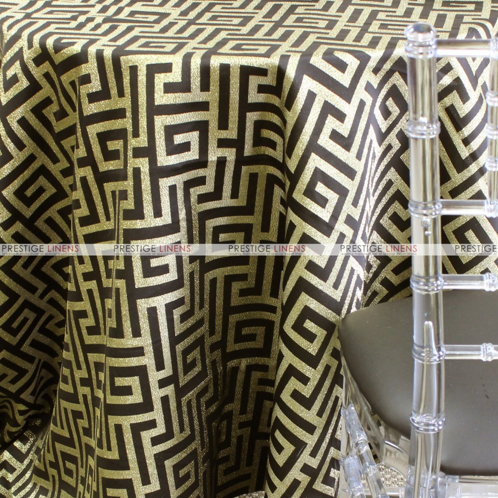 Athens Table Linen Black Gold