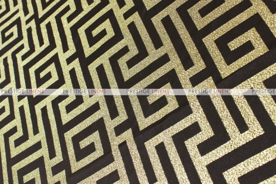 ATHENS TABLE RUNNER - BLACK/GOLD