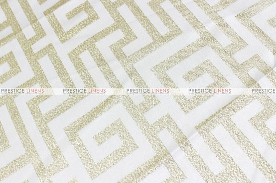 ATHENS TABLE RUNNER - WHITE/GOLD