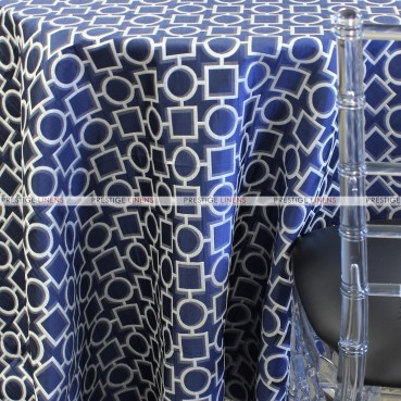 CHAINS TABLE LINEN - NAVY