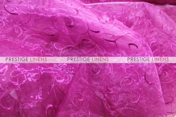 Organza swirl draping 529 fuchsia prestige linens - Salon prestige organza ...