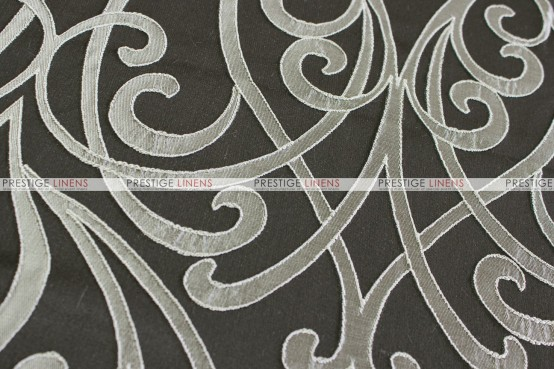 VICTORIA TABLE RUNNER - CHARCOAL