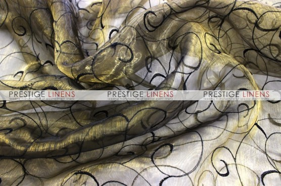 Organza Swirl Draping - Gold/Black