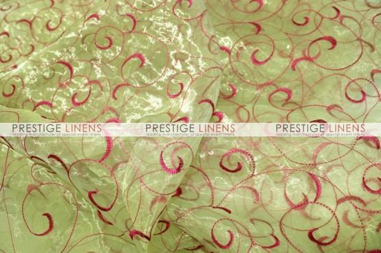 Organza Swirl Draping - Lime/Fuchsia