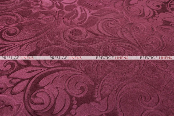 VELVET GARDEN TABLE RUNNER   BURGUNDY