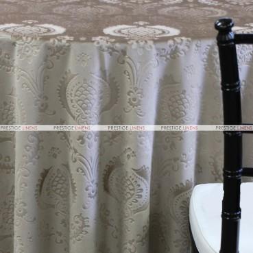 VELVET DAMASK TABLE LINEN - SAND