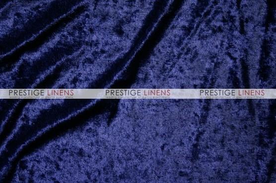 Panne Velvet Draping - Navy