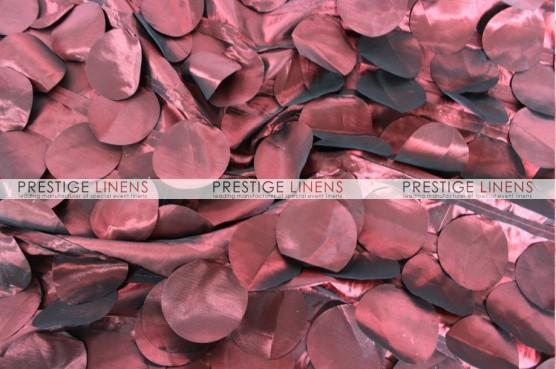 Petal Taffeta Draping - Burgundy