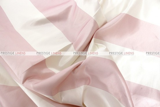 Striped Print Lamour - Fabric by the yard - 3.5 Inch - Blush/Ivory