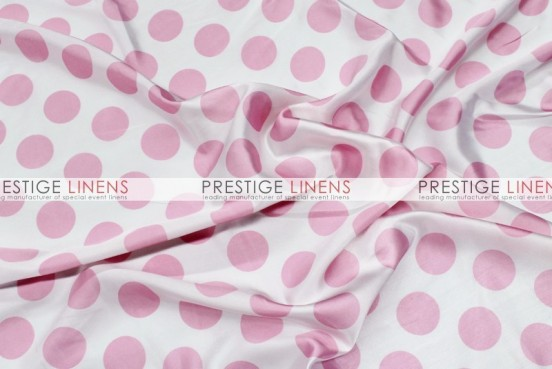 Polka Dot Print Charmeuse Draping - White/Pink