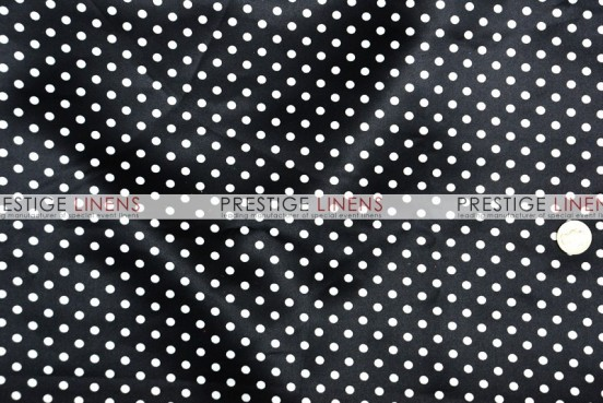 Polka Dot Print Lamour Draping - Mini Black/White