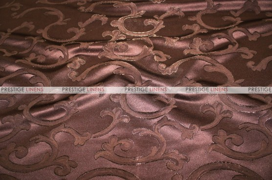 Scarlet Damask - Fabric by the yard - Brown