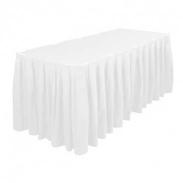 Polyester Table Skirting - White