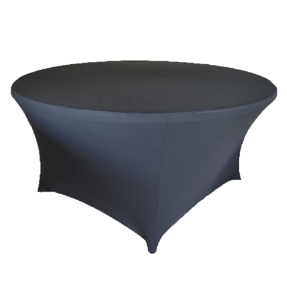 Spandex Tablecloth 60 Round Black Prestige Linens