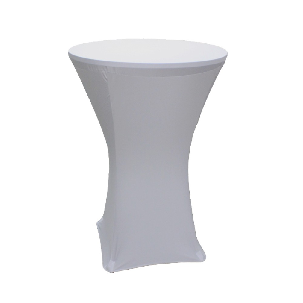 Spandex Tablecloth 36 Inch Cocktail White Prestige
