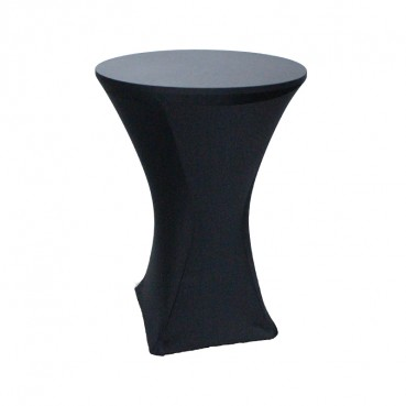 Spandex Tablecloth - 30 Inch Cocktail - Black