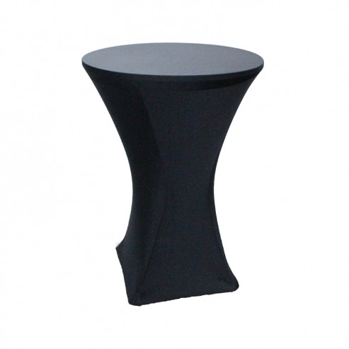 Spandex Tablecloth 36 Inch Cocktail Black Prestige