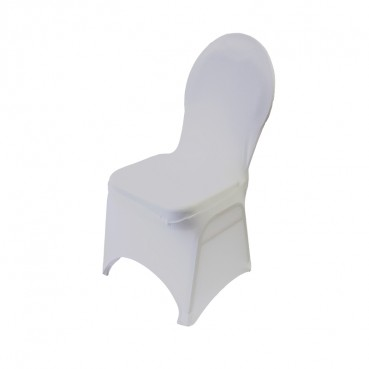 Spandex Banquet Chair Cover - White