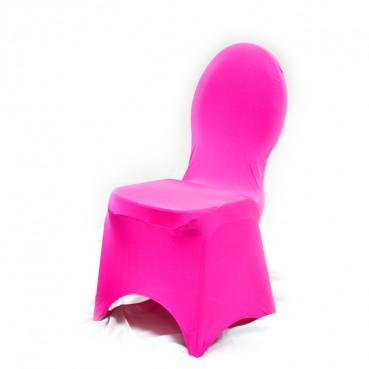 Spandex Banquet Chair Cover - Fuchsia