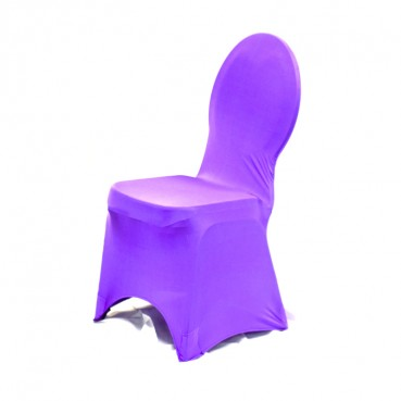 Spandex Banquet Chair Cover - Purple