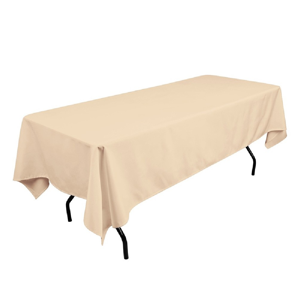 polyester tablecloth 60 x 108 beige prestige linens
