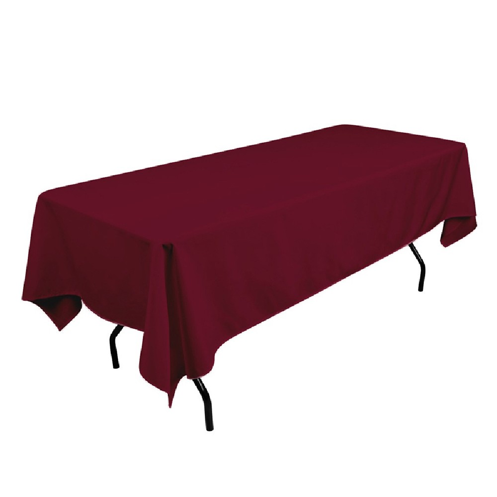 polyester tablecloth 60 x 108 burgundy prestige linens