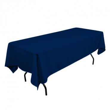 Polyester Tablecloth - 60 x 108 - Navy
