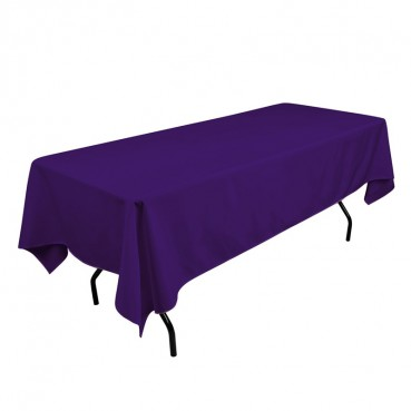 Polyester Tablecloth - 60 x 108 - Purple