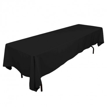 "Polyester Tablecloth - 60"" x 120"" - Black"