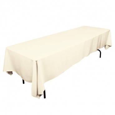 "Polyester Tablecloth - 60"" x 120"" - Ivory"